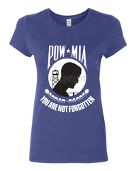 POW MIA You Are Not Forgotten Cotton T-Shirt Patriotic - Tee Hunt - 4