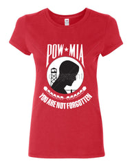 POW MIA You Are Not Forgotten Cotton T-Shirt Patriotic - Tee Hunt - 3