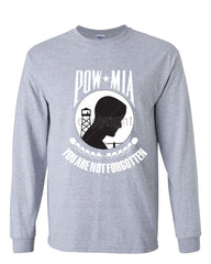 POW MIA You Are Not Forgotten Long Sleeve T-Shirt Patriotic - Tee Hunt - 3