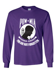 POW MIA You Are Not Forgotten Long Sleeve T-Shirt Patriotic - Tee Hunt - 6