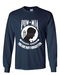 POW MIA You Are Not Forgotten Long Sleeve T-Shirt Patriotic - Tee Hunt - 7