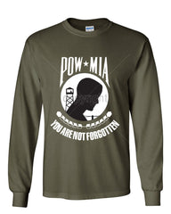 POW MIA You Are Not Forgotten Long Sleeve T-Shirt Patriotic - Tee Hunt - 8