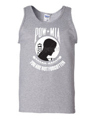 POW MIA You Are Not Forgotten Tank Top Patriotic Muscle Shirt - Tee Hunt - 4
