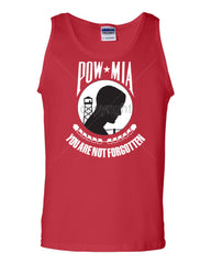 POW MIA You Are Not Forgotten Tank Top Patriotic Muscle Shirt - Tee Hunt - 5