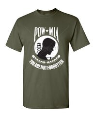 POW MIA You Are Not Forgotten T-Shirt Patriotic Tee Shirt - Tee Hunt - 10