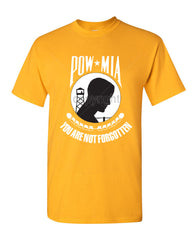 POW MIA You Are Not Forgotten T-Shirt Patriotic Tee Shirt - Tee Hunt - 8