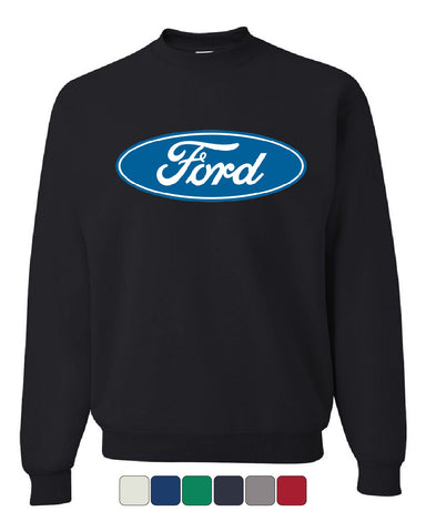 Licensed Ford Logo Crew Neck Sweatshirt Truck Mustang F150 Muscle Car