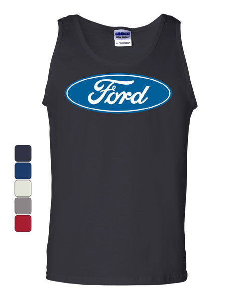 Licensed Ford Logo Tank Top Truck Mustang F150 Muscle Car - Tee Hunt - 1