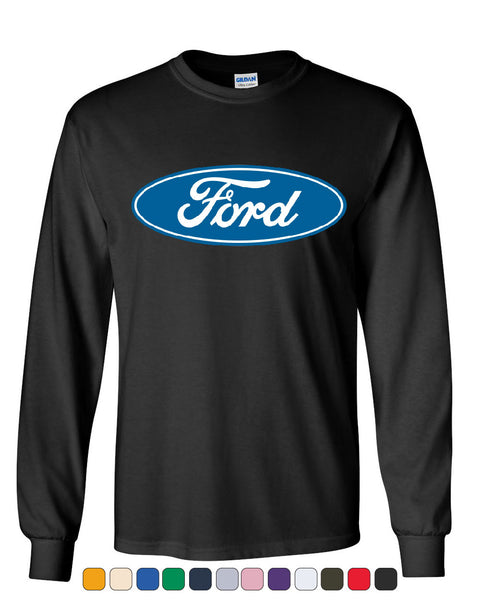 Licensed Ford Logo Long Sleeve T-Shirt Truck Mustang F150 Muscle Car - Tee Hunt - 1