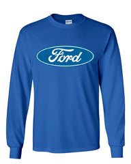 Licensed Ford Logo Long Sleeve T-Shirt Truck Mustang F150 Muscle Car - Tee Hunt - 5