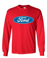 Licensed Ford Logo Long Sleeve T-Shirt Truck Mustang F150 Muscle Car - Tee Hunt - 6
