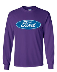 Licensed Ford Logo Long Sleeve T-Shirt Truck Mustang F150 Muscle Car - Tee Hunt - 7