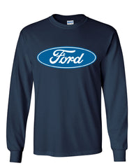 Licensed Ford Logo Long Sleeve T-Shirt Truck Mustang F150 Muscle Car - Tee Hunt - 8