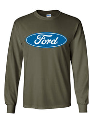 Licensed Ford Logo Long Sleeve T-Shirt Truck Mustang F150 Muscle Car - Tee Hunt - 10