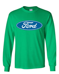 Licensed Ford Logo Long Sleeve T-Shirt Truck Mustang F150 Muscle Car - Tee Hunt - 12