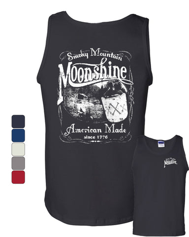 Smoky Mountain Moonshine Tank Top Tennessee Whiskey Muscle Shirt