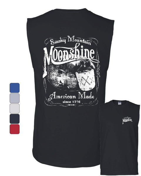 Smoky Mountain Moonshine Muscle Shirt Tennessee Whiskey - Tee Hunt - 1
