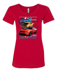 Ford Mustang The Legend Lives Hooded T-Shirt 0 Tee Shirt - Tee Hunt - 3