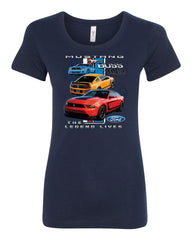 Ford Mustang The Legend Lives Hooded T-Shirt 0 Tee Shirt - Tee Hunt - 5