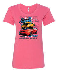 Ford Mustang The Legend Lives Hooded T-Shirt 0 Tee Shirt - Tee Hunt - 6