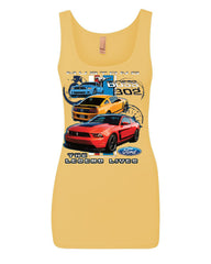 Ford Mustang The Legend Lives Hooded Tank Top 0 Top - Tee Hunt - 5