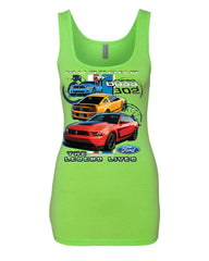 Ford Mustang The Legend Lives Hooded Tank Top 0 Top - Tee Hunt - 6