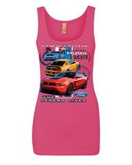 Ford Mustang The Legend Lives Hooded Tank Top 0 Top - Tee Hunt - 7