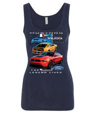 Ford Mustang The Legend Lives Hooded Tank Top 0 Top - Tee Hunt - 12