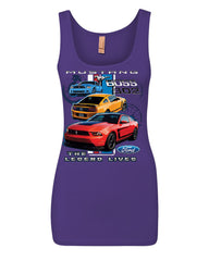 Ford Mustang The Legend Lives Hooded Tank Top 0 Top - Tee Hunt - 8
