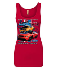 Ford Mustang The Legend Lives Hooded Tank Top 0 Top - Tee Hunt - 9