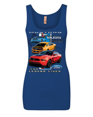 Ford Mustang The Legend Lives Hooded Tank Top 0 Top - Tee Hunt - 10