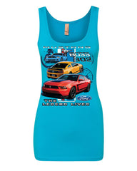 Ford Mustang The Legend Lives Hooded Tank Top 0 Top - Tee Hunt - 11