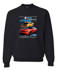 Ford Mustang The Legend Lives Hooded Crew Neck Sweatshirt 0 - Tee Hunt - 2
