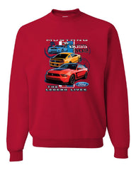 Ford Mustang The Legend Lives Hooded Crew Neck Sweatshirt 0 - Tee Hunt - 4