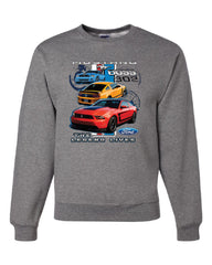 Ford Mustang The Legend Lives Hooded Crew Neck Sweatshirt 0 - Tee Hunt - 6