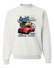 Ford Mustang The Legend Lives Hooded Crew Neck Sweatshirt 0 - Tee Hunt - 7
