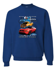 Ford Mustang The Legend Lives Hooded Crew Neck Sweatshirt 0 - Tee Hunt - 5