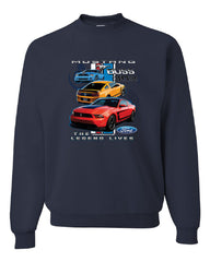 Ford Mustang The Legend Lives Hooded Crew Neck Sweatshirt 0 - Tee Hunt - 8