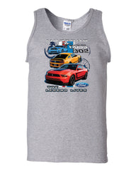 Ford Mustang The Legend Lives Hooded Tank Top 0 - Tee Hunt - 4