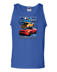 Ford Mustang The Legend Lives Hooded Tank Top 0 - Tee Hunt - 3
