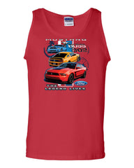 Ford Mustang The Legend Lives Hooded Tank Top 0 - Tee Hunt - 5