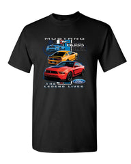 Ford Mustang The Legend Lives Hooded T-Shirt 0 Tee Shirt - Tee Hunt - 2