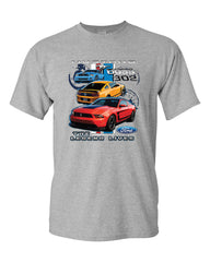 Ford Mustang The Legend Lives Hooded T-Shirt 0 Tee Shirt - Tee Hunt - 4