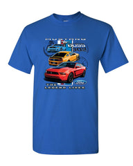 Ford Mustang The Legend Lives Hooded T-Shirt 0 Tee Shirt - Tee Hunt - 7