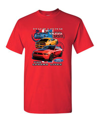 Ford Mustang The Legend Lives Hooded T-Shirt 0 Tee Shirt - Tee Hunt - 9