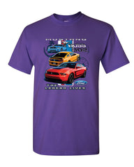 Ford Mustang The Legend Lives Hooded T-Shirt 0 Tee Shirt - Tee Hunt - 16