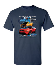 Ford Mustang The Legend Lives Hooded T-Shirt 0 Tee Shirt - Tee Hunt - 8
