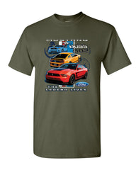 Ford Mustang The Legend Lives Hooded T-Shirt 0 Tee Shirt - Tee Hunt - 13