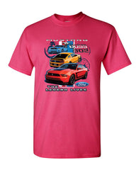 Ford Mustang The Legend Lives Hooded T-Shirt 0 Tee Shirt - Tee Hunt - 14