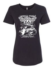 Route 66 America's Highway Women's T-Shirt The Mother Road Tee - Tee Hunt - 2